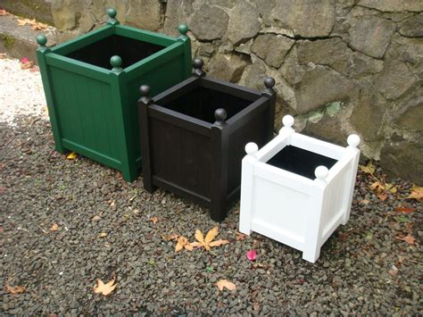 Planters Glamorous Black Wooden Planter Boxes Modern Black Planter Boxes