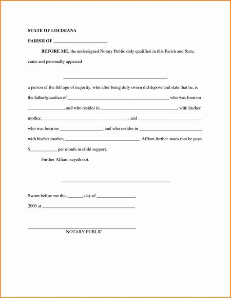 voluntary child support agreement letter sle 28 images