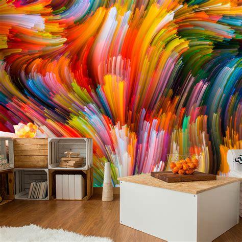 tapete bunt gestreift vlies fototapete 3 farben zur auswahl tapeten abstrakt