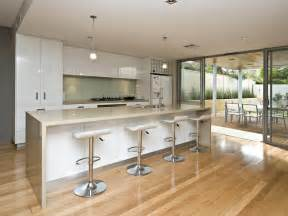 Contemporary Kitchen Island Designs by Modern Island Kitchen Design Using Floorboards Kitchen