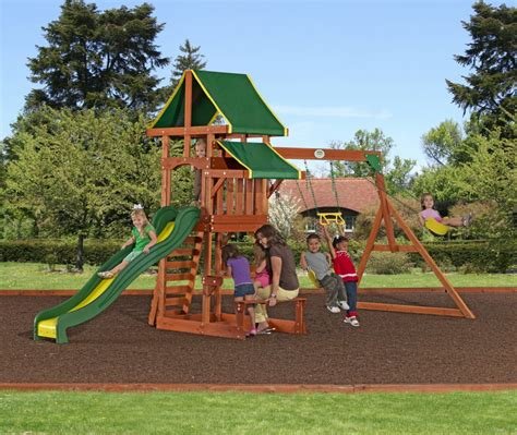 Backyard Discovery Tucson Cedar Wooden Swing Set by Backyard Discovery Giveaway Win A Tucson Cedar Swing Set
