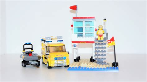 paw patrol lifeboat lego ideas lego city rnli 4x4 with lifeboat and beach