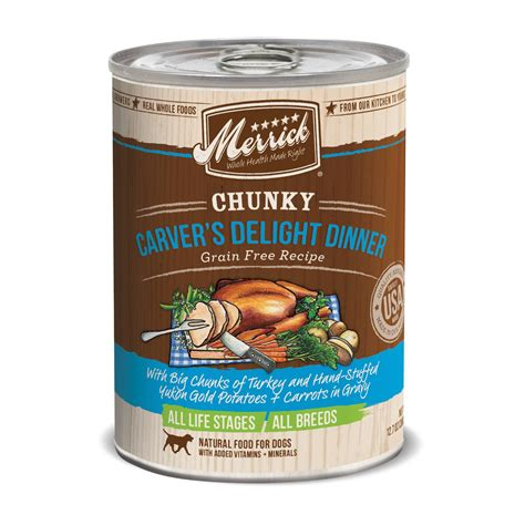 petco merrick food merrick chunky carver s delight dinner canned food petco
