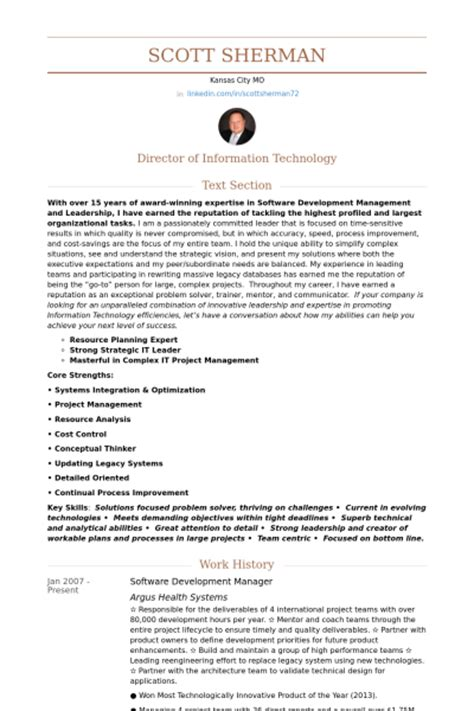 Software Development Manager Resume by Software Development Manager Resume Sles Visualcv