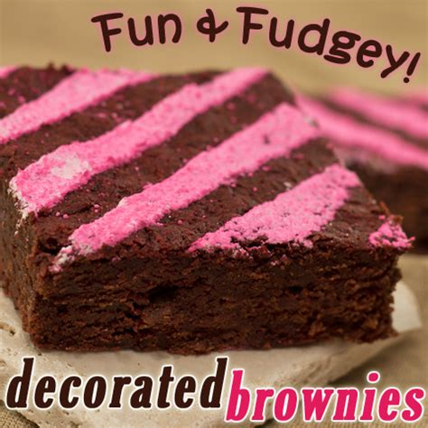 Decorated Brownies by Decadent Decorated Brownies And Fudgey
