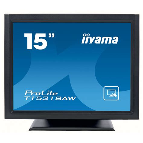 Tv Lcd Votre 15 Inch iiyama 15 quot led tactile onde accoustique prolite t1531saw