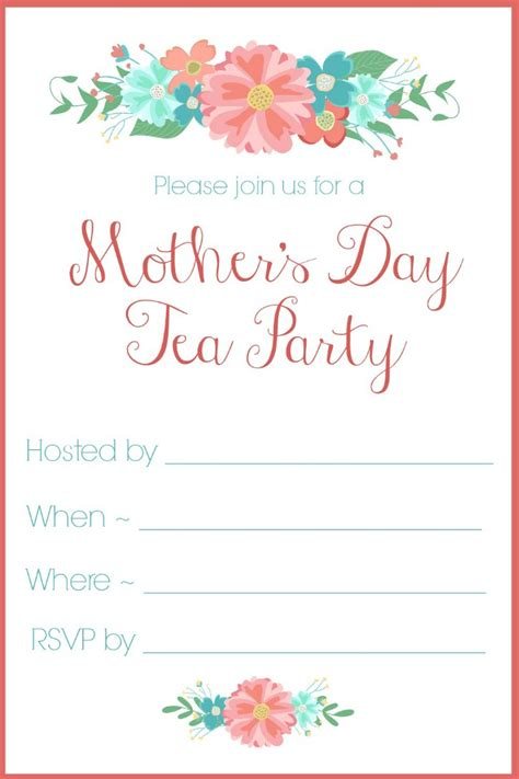 kids tea party invitation wording have a memorable day with these