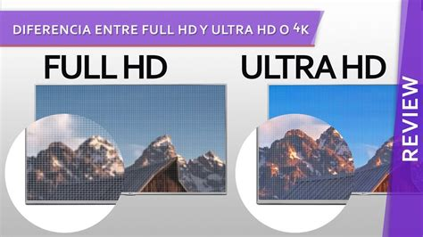 imagenes 4k vs full hd diferencia entre full hd y ultra hd o 4k youtube