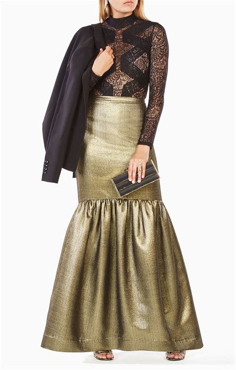 jen metallic mermaid skirt bcbg on sale spottedmod