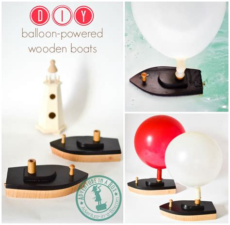 small wooden toy boat diy balloon powered wooden toy boat adventure in a box