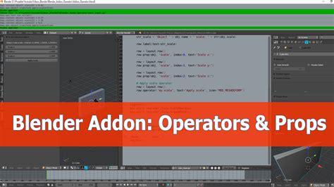 tutorial blender python blender addon tutorial custom operators blendernation