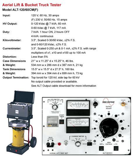 high voltage detector rental rent high voltage alt 120 60 aerial lift truck