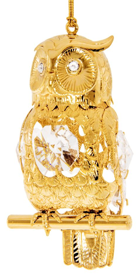 Owl Gold owl gold ornament