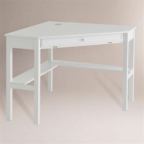 Duncan Corner Computer Desk White World Market Computer Desk In White