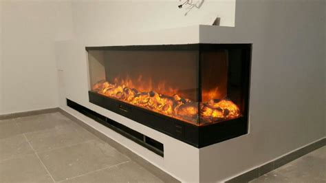 double sided electric fireplace storage home ideas