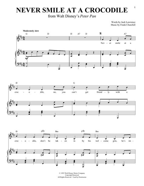Never Smile At A Crocodile | Sheet Music Direct