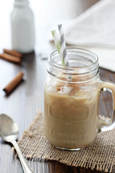 Honey Chestnut Latte Iced honey cinnamon iced latte cook nourish bliss