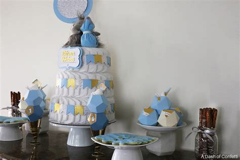 Elephant Boy Baby Shower Decorations by Geometric Blue Gold Elephant Baby Shower