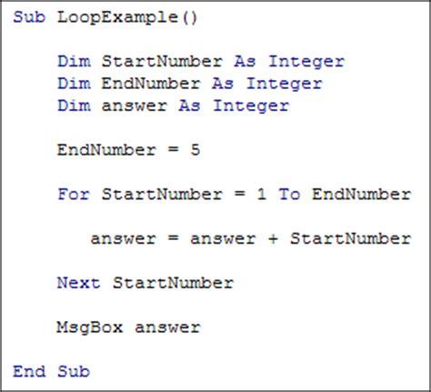 coding loop excel vba programming for loops