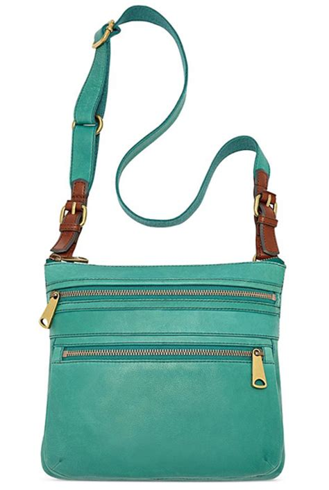 Fossil Crossbody Teal Green fossil explorer teal leather crossbody everything turquoise