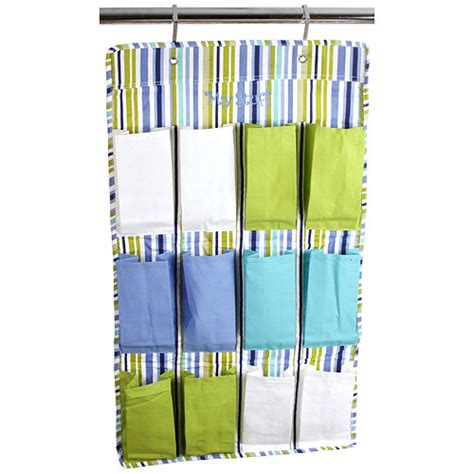 The Door 12 Pocket Organizer 12 pocket hanging shoe organizer stripe in