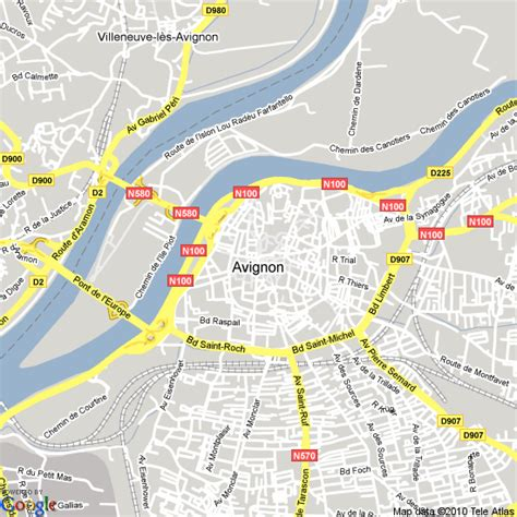 map of avignon avignon map images