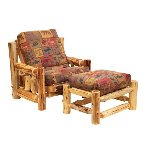 Futon Chair And Ottoman by Log Futon Chair With Ottoman