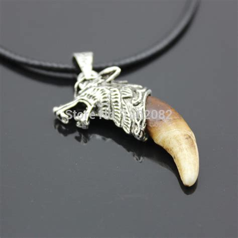 Wolf Fang Necklace Jwne0070 real wolf fang necklace