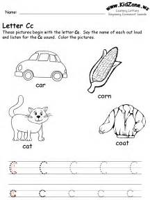 free coloring pages of letter c worksheet