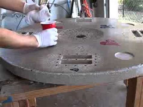 how to make a round concrete table top video 5 of 5 how to make a concrete tabletop or poker