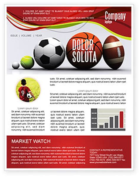 Sports Newsletter Template sport balls newsletter template for microsoft word adobe
