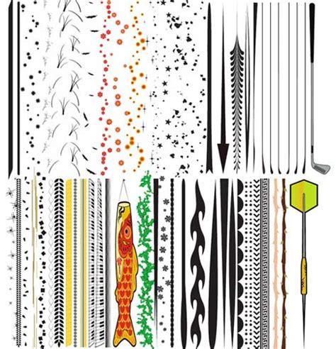 illustrator pattern brush negative spacing illustrator brushes 15 sets of beautiful floral shapes to