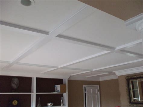 Coffered Ceiling Ideas | modern interior diy ceiling ideas