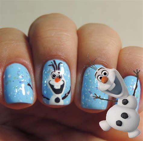 Nail Art Olaf Tutorial   tutorial nail art de frozen por melissa menezes 187 pausa