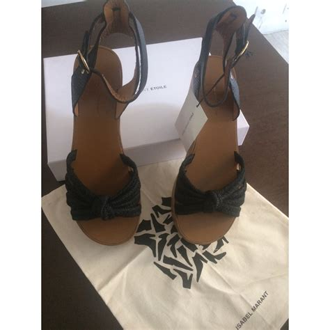 Blezzed Low Wedges Glowsy Sandal Rope Original marant etoile rope wedges sandals rope black ref 40177 joli closet