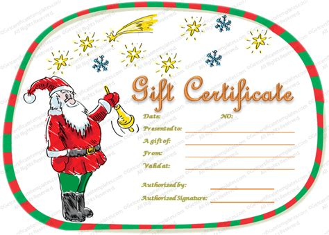 xmas award certificate ideas magical gift certificate template