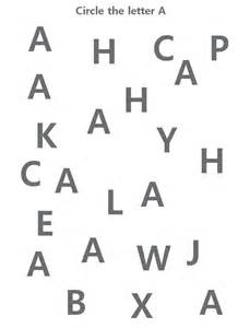 letter a worksheet as learning