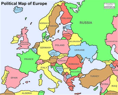 Map of Europe Cities Pictures: Political Maps of Europe Area