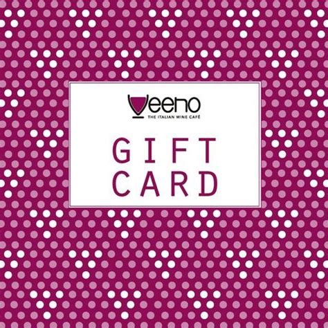 Wine Tasting Gift Cards - veeno family wines from italy