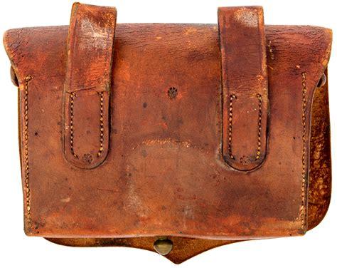 civil war leather artillery fuse box cowans auction