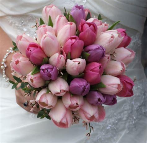 pink tulips wedding bouquet   iPunya