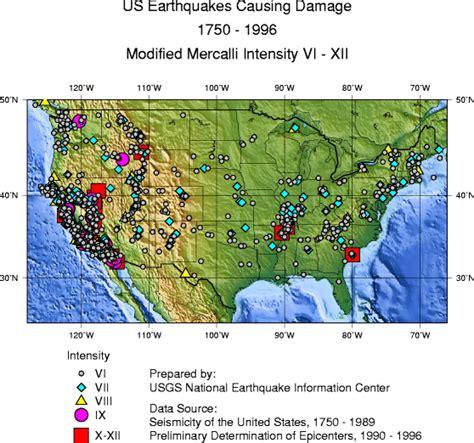 earthquake history map emergency preparedness hazard maps