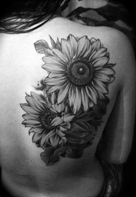 black and white sunflower tattoo from delicate to rebellious 40 fabulous flower tattoos
