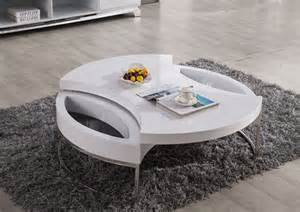 modern white coffee table futuristic design for your home
