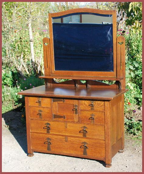 Arts And Crafts Dresser by Voorhees Craftsman Mission Oak Furniture Antique Arts