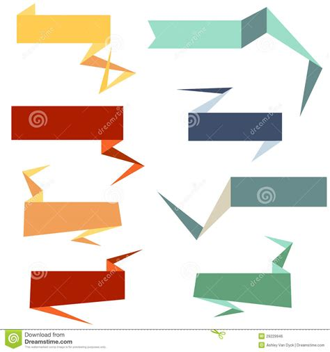 origami style web banners stock vector image of page