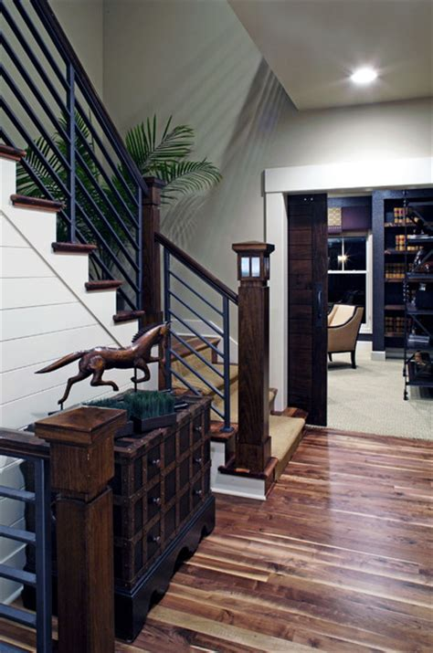 modern farmhouse curt hofer associates curt hofer modern farmhouse traditional staircase omaha by