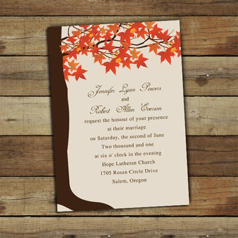 Wedding Invitations Fall Theme by Fall Wedding Invitations Ideas 2013