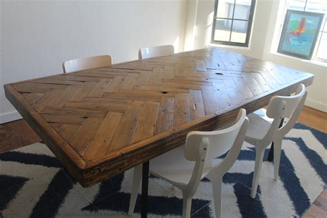 made to order dining tables herringbone dining table made to order