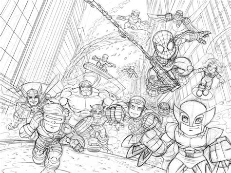 free marvel superhero squad coloring pages